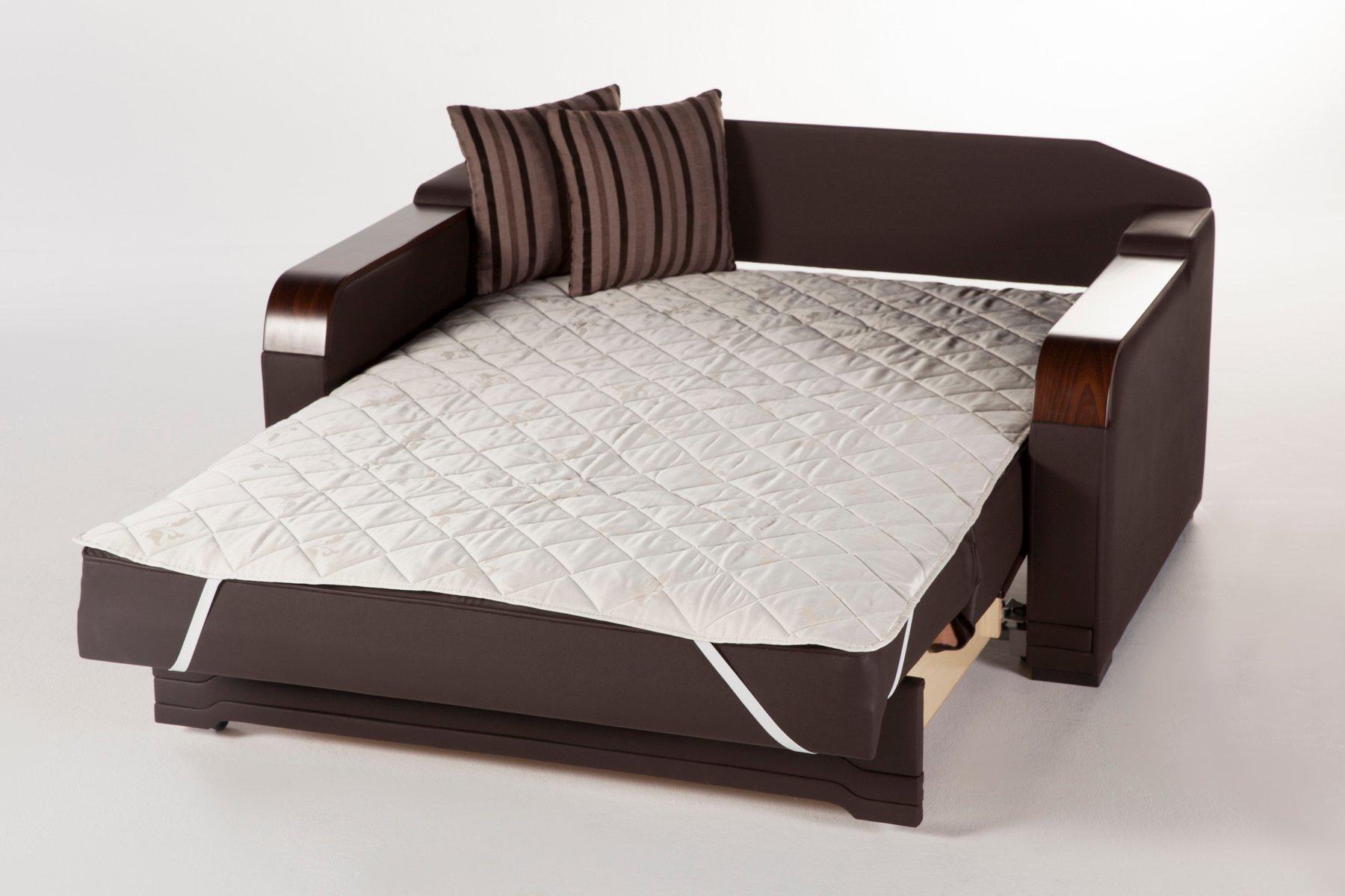 Willow Dark Brown Loveseat Sleeper By Istikbal Furniture