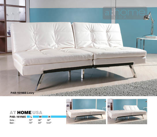 Aspen ivory sofa bed by at home usa for Sofa bed usa