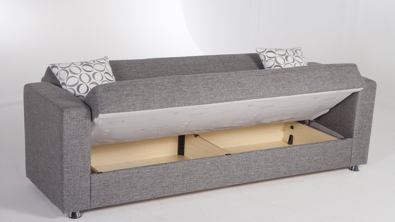 Tokyo diego gray convertible sofa bed by sunset Bunk bed couch convertible
