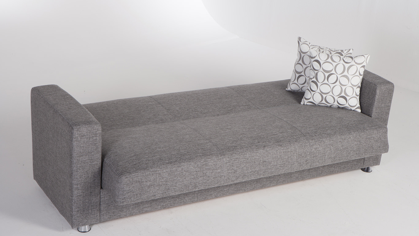 Tokyo diego gray convertible sofa bed by sunset for Sofa bed 549 artek