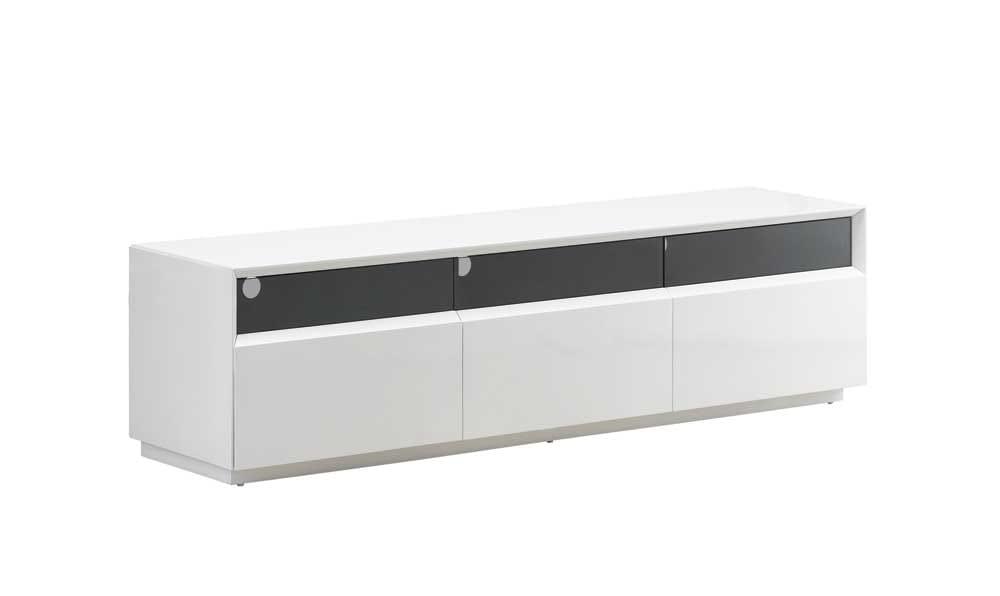 tv023 white gloss tv stand black by j m furniture. Black Bedroom Furniture Sets. Home Design Ideas