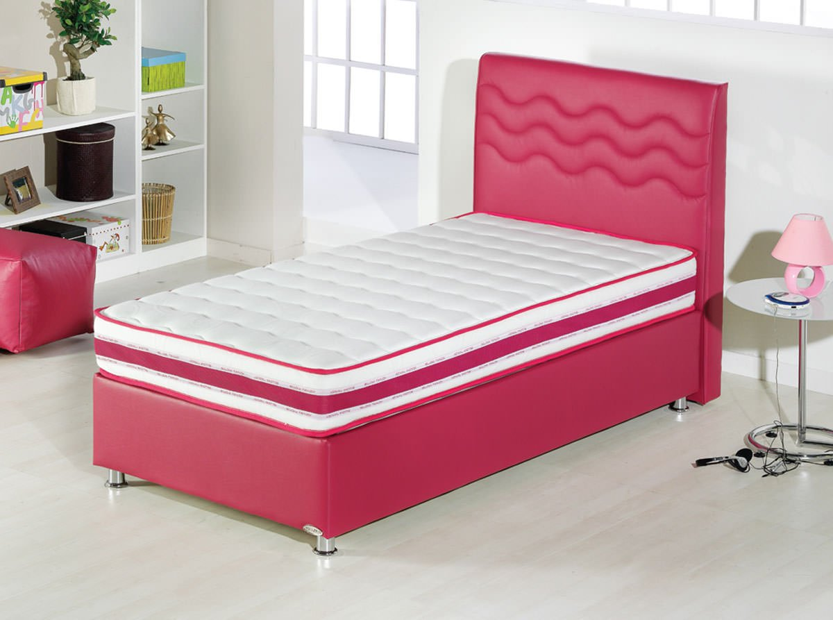 Twinjoy Platform Bed W Headboard Twin Xl Size Fuchsia By Sunset