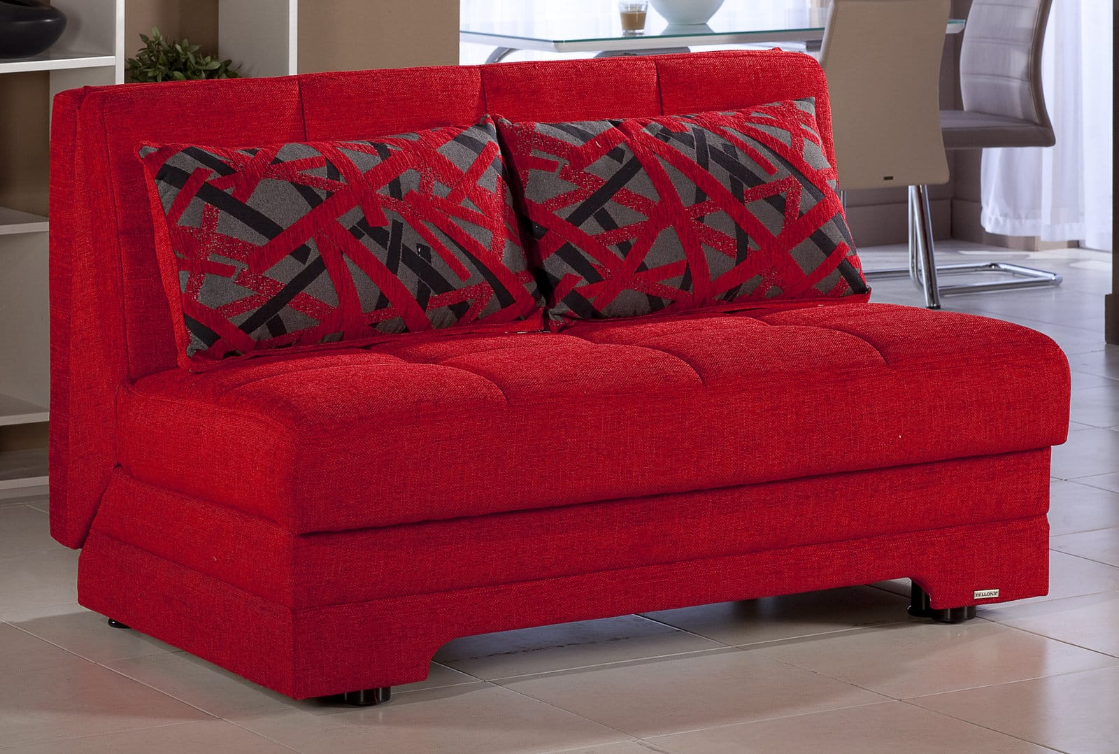 Twist Story Red Loveseat Sleeper By Istikbal Furniture