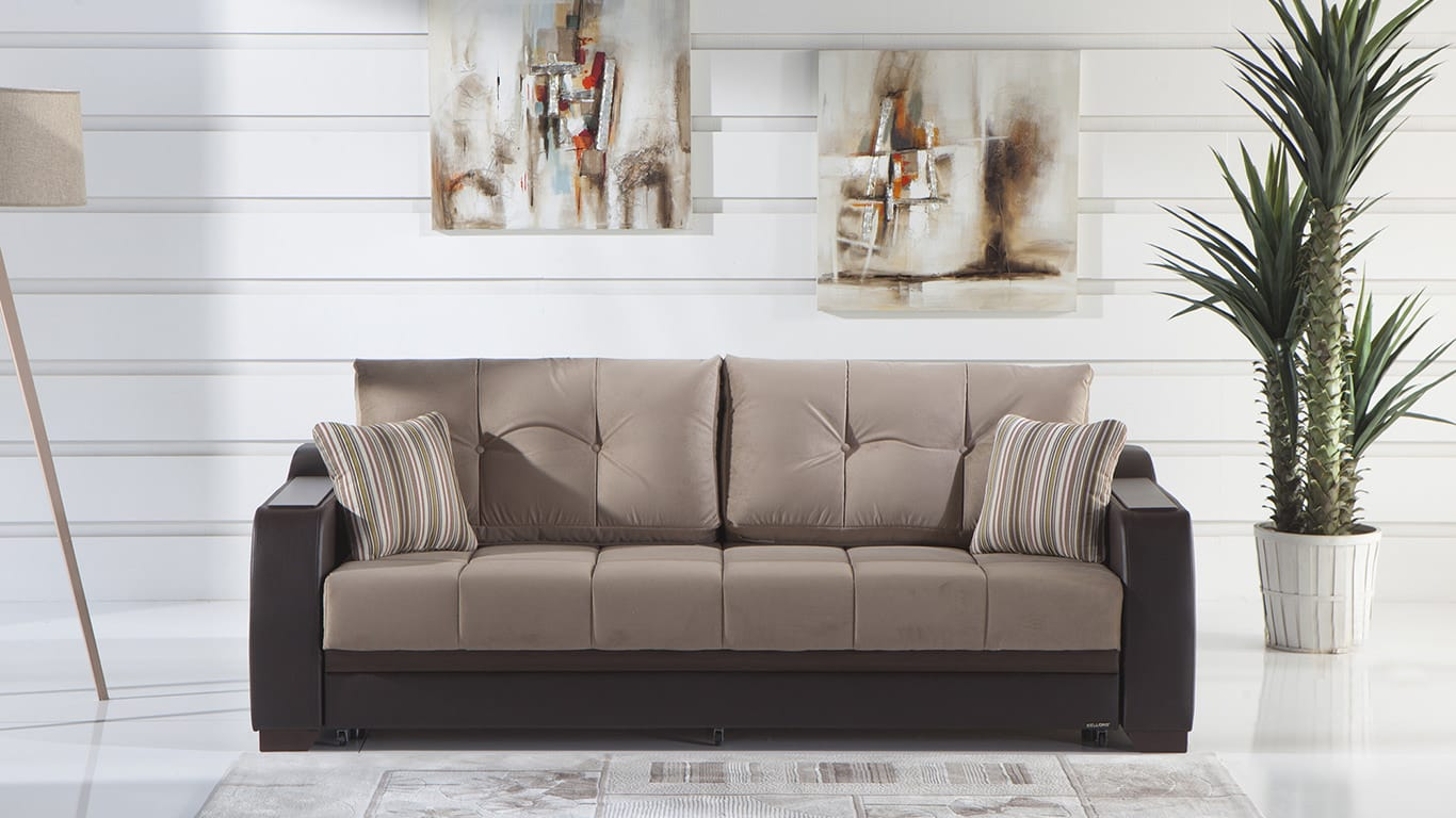 Ultra Lilyum Vizon Convertible Sofa Bed by Bellona