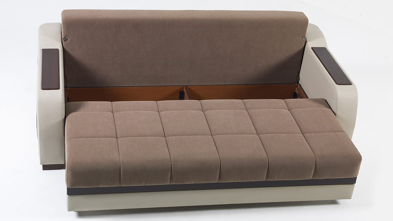 Ultra optimum brown convertible sofa bed by sunset Bed divan