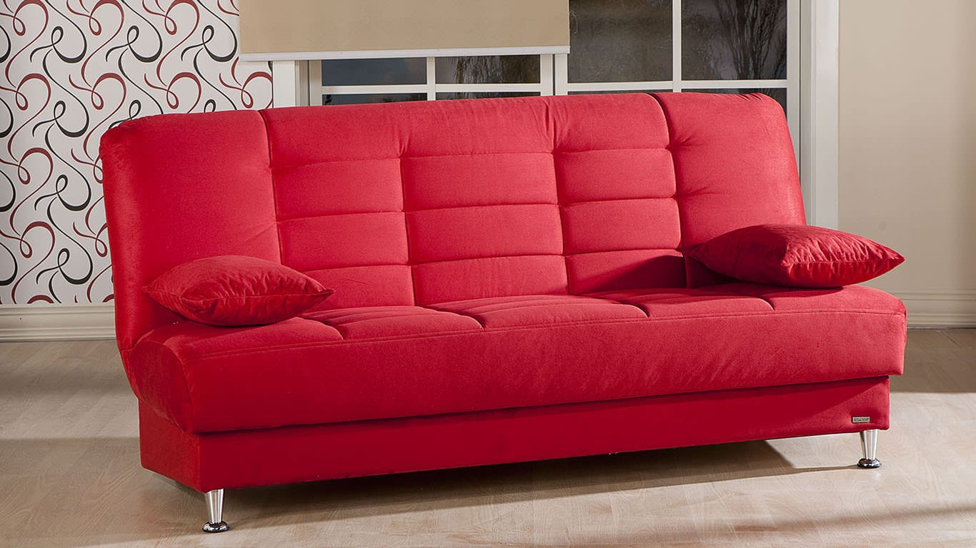 Vegas Rainbow Red Sofa & 2 Chairs Set by Istikbal Furniture