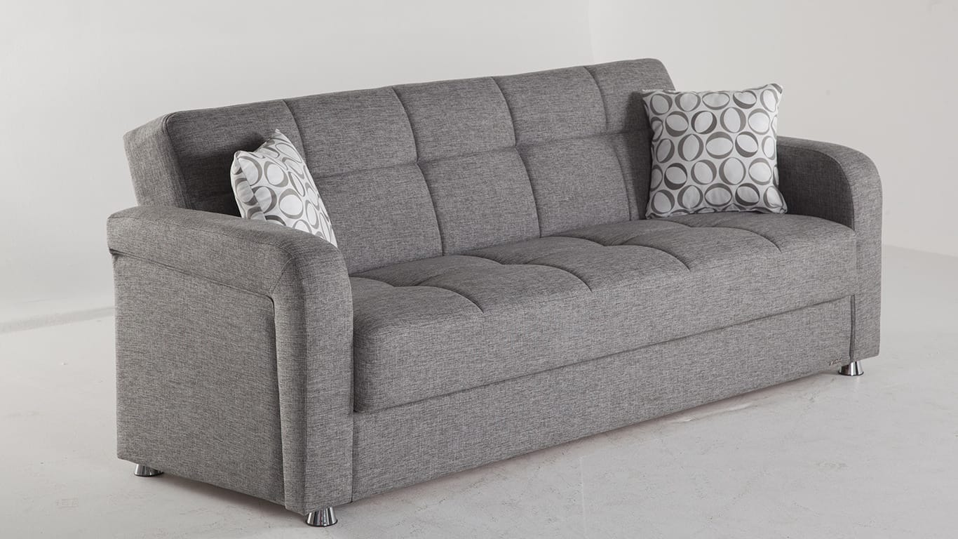 Vision diego gray convertible sofa bed by sunset for Sofa bed name