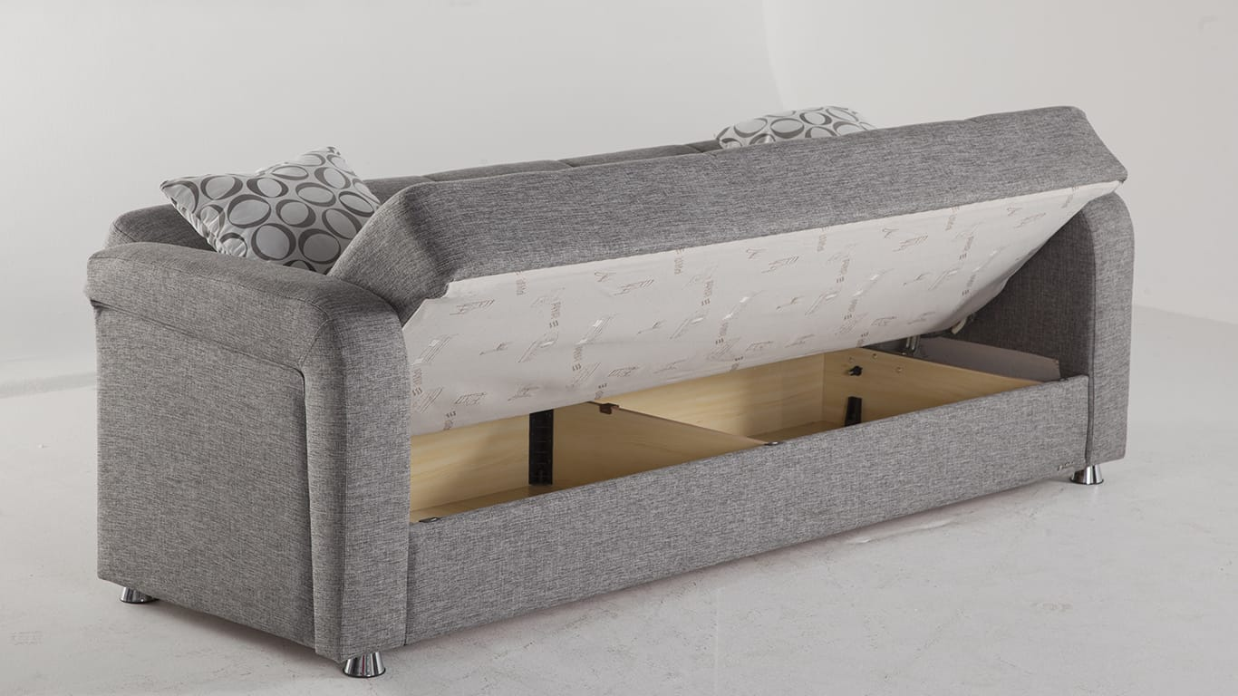 Vision diego gray convertible sofa bed by istikbal sunset for Sofa bed name