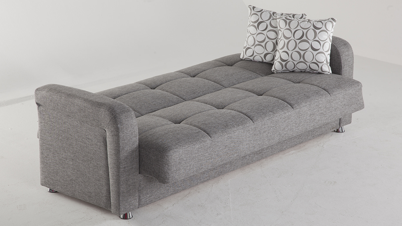 Vision Diego Gray Convertible Sofa Bed by Istikbal Furniture