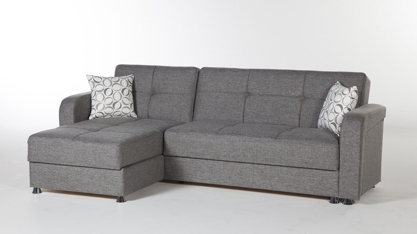 Vision Diego Gray Sectional Sofa By Istikbal Sunset