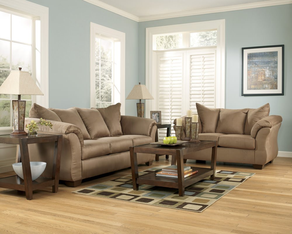 Darcy mocha sofa sleeper signature design by ashley furniture Ashley couch and loveseat