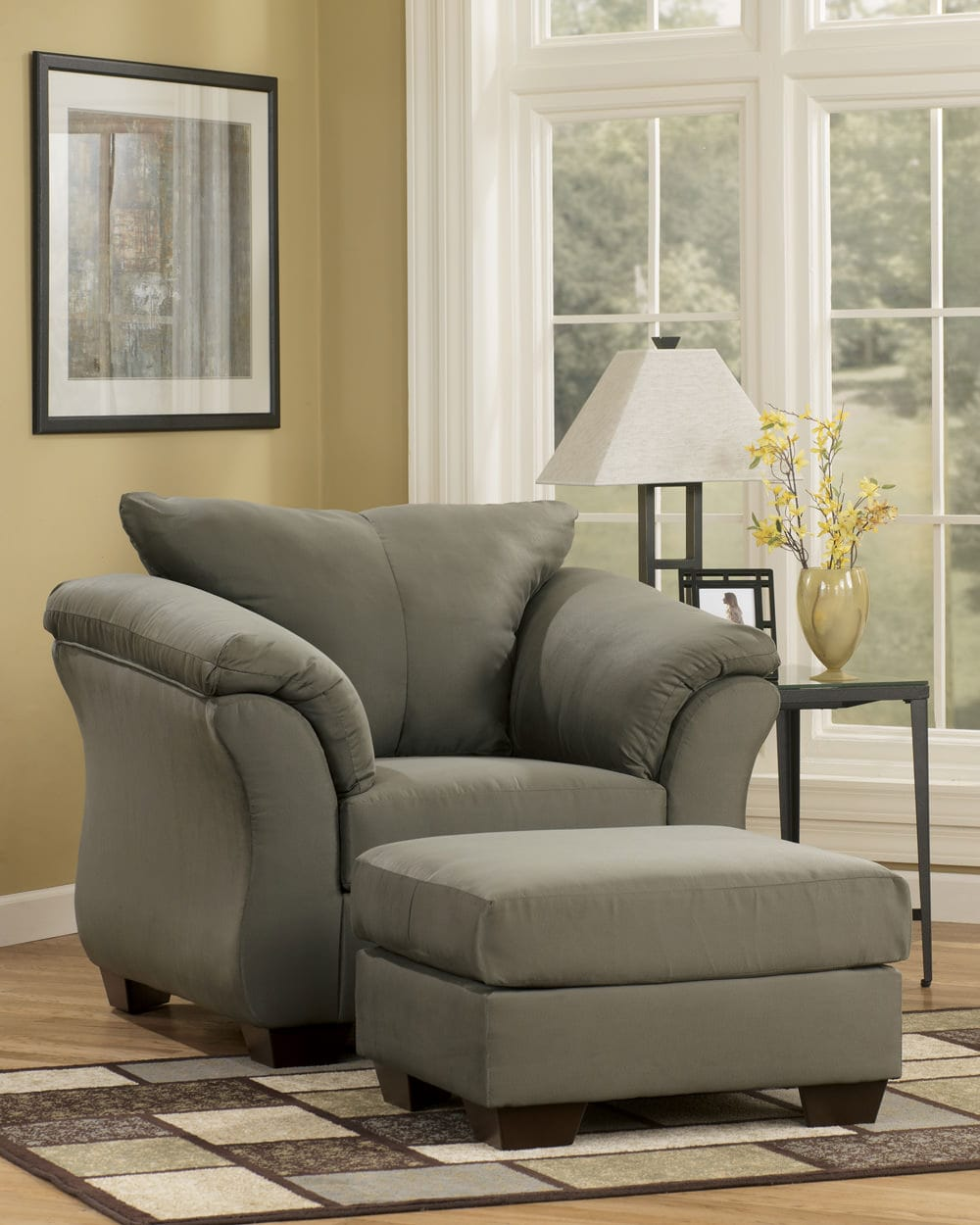 Ashley Furniture: Darcy Sage Ottoman Signature Design By Ashley Furniture