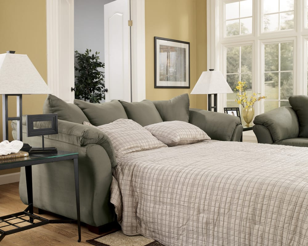 Darcy Sage Sofa Sleeper Signature Design By Ashley Furniture