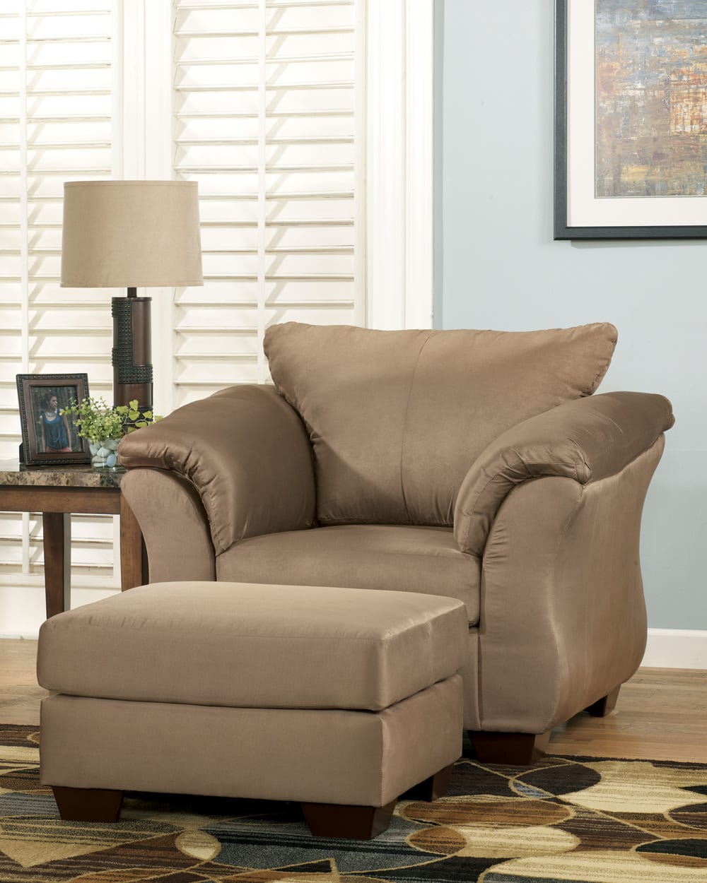 Fabulous Darcy Mocha Ottoman Signature Design By Ashley Furniture Home Remodeling Inspirations Basidirectenergyitoicom