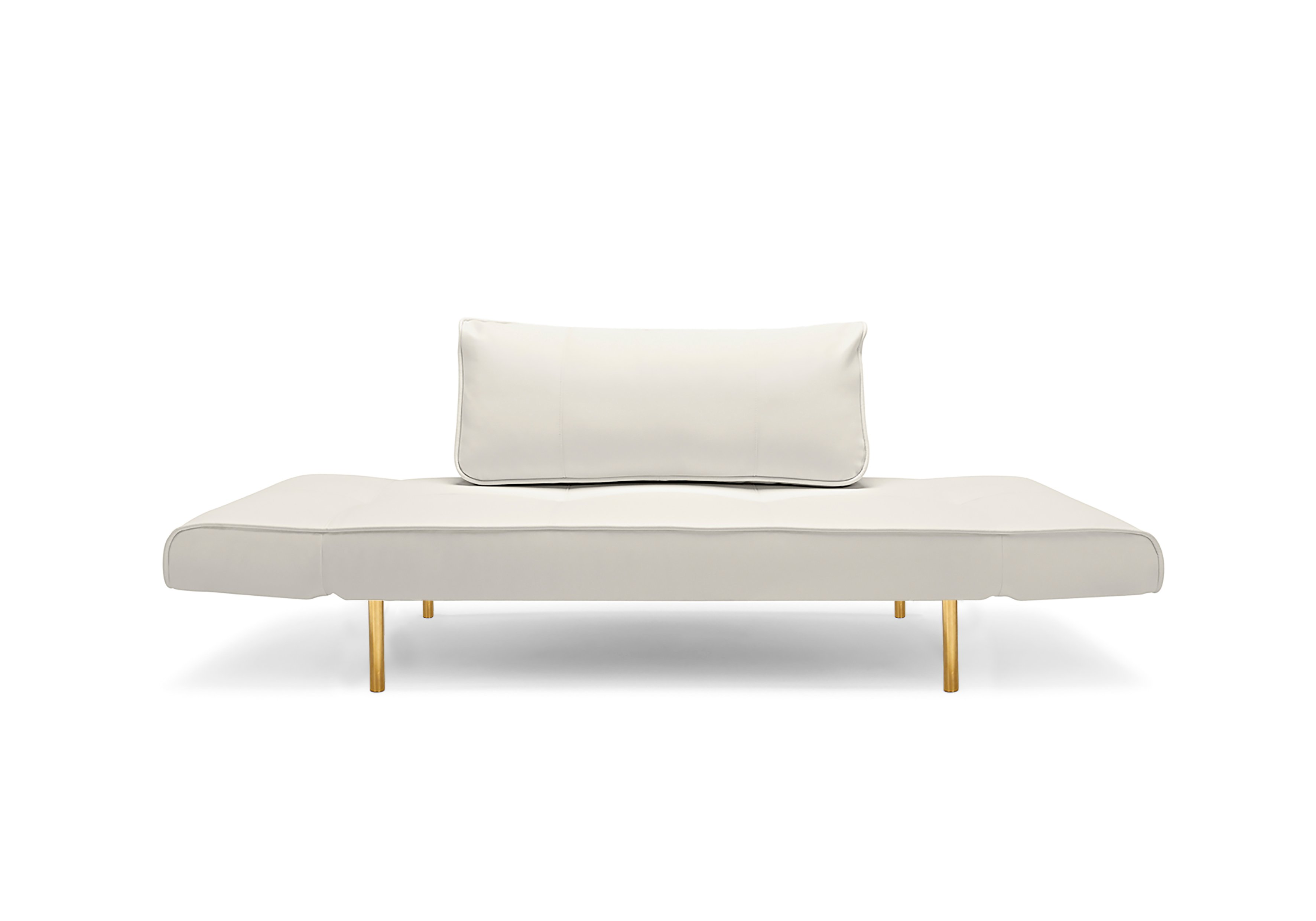 Zeal Deluxe Daybed White Leather Textile by Innovation