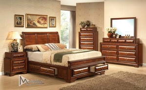 Barocco Black Silver Amp Gold Camel Bedroom Set By Esf