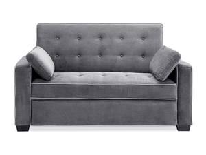 Augustine Convertible Sofa Moon Grey Full By Serta Lifestyle