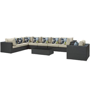 27 Cream Leather Sofa Set By Esf