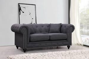 U982 Pluto Black Loveseat By Global Furniture