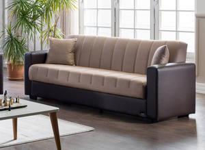 Twist Optimum Brown Loveseat Sleeper By Istikbal Furniture