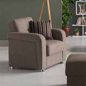 Victoria Andre Dark Brown Loveseat Sleeper By Istikbal