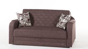 Twist Beyza Astoral Light Brown Loveseat Sleeper By Istikbal Furniture