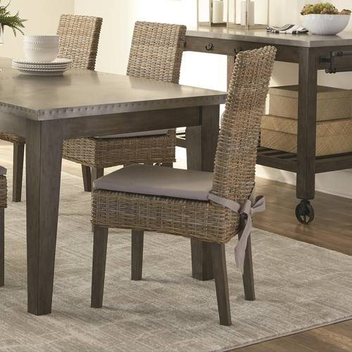 Brilliant 103803 Rattan Woven Dining Chair By Scott Living Gmtry Best Dining Table And Chair Ideas Images Gmtryco