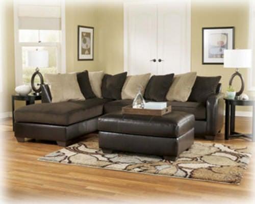 Gemini Sectional Sofa Chocolate Signature Design