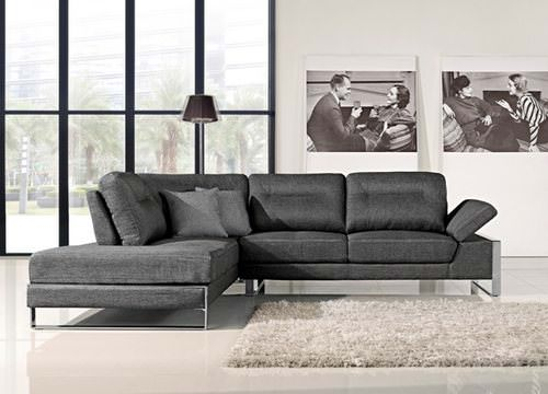 1372 Gray Sectional Sofa By At Home