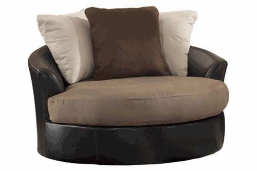 Masoli Mocha Oversized Swivel Accent Chair Signature Design
