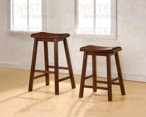 Set Of 2 Bar Stools 180069 24 Inch Dark Walnut By Coaster Fine Furniture