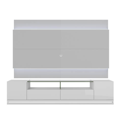 Vanderbilt White Gloss Tv Stand 2 2 Floating Wall Tv Panel W Led