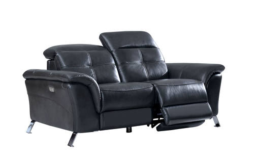 Sensational 2619 Gray Leather Loveseat W 2 Electric Recliners By Esf Forskolin Free Trial Chair Design Images Forskolin Free Trialorg