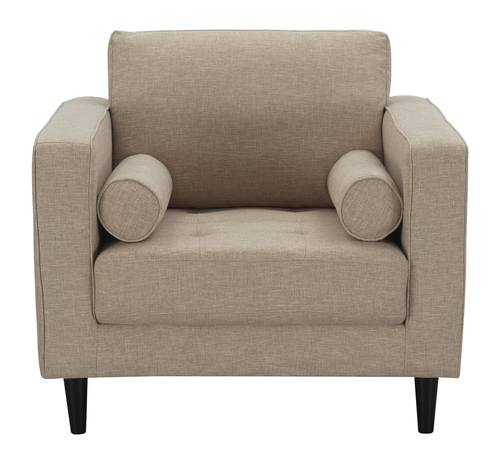 Arthur 3 Piece Tan Brown Tweed Sofa Loveseat Armchair Set
