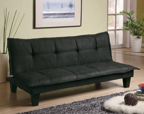 300238 Dark Gray Microfiber Sofa Bed