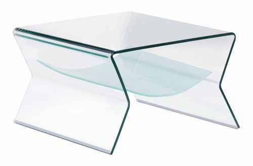 Yoga Side Table Clear U0026 Frosted