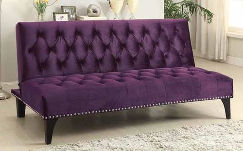 Incroyable 500235 Transitional Purple Velvet Sofa Bed