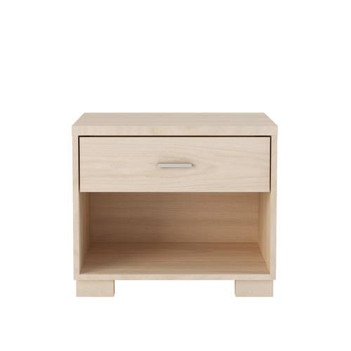 astor oak vanilla 1 drawer modern nightstand by manhattan comfort
