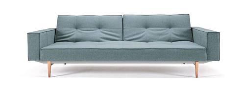 Splitback Sofa Bed W/Arms Coastal Seal Gray