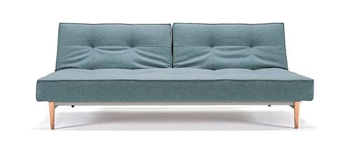 Splitback Sofa Bed Mixed Dance Light Blue By Innovation