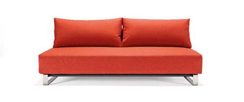 reloader sleek excess sofa bed mixed dance burned orange by innovation - Orange Sofa