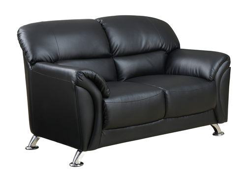 U9103 Black Vinyl Loveseat By Global Furniture