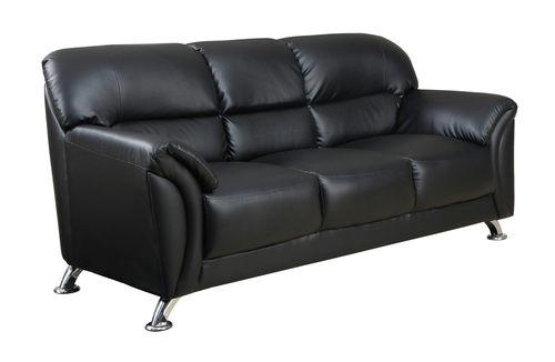 U9103 Black Vinyl Sofa