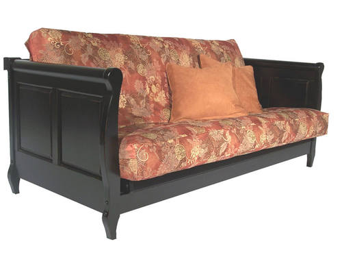 Adriana Antique Black Full Wall Hugger Futon Frame