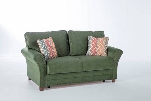 Brady Samba Green W Memory Foam Loveseat By Mondi