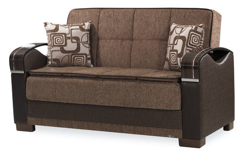 Brown Convertible Loveseat By Casamode