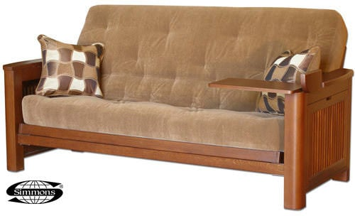 Cascade Tray Arm Futon Frame By Simmons Futons