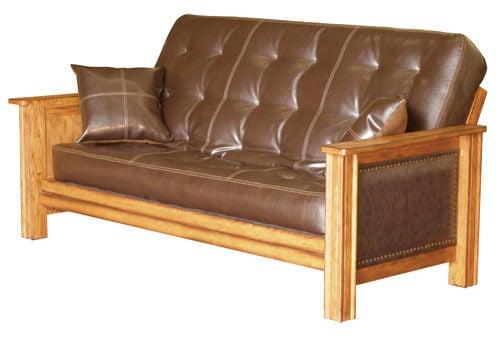 laredo distressed oak futon frame by simmons futons