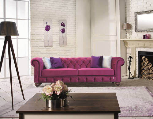 Chester Burgundy Sofa