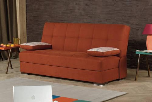 Soho Orange Fabric Convertible Sofa Bed by Casamode